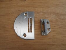NEW THROAT PLATE SMALL HOLE AND FEED DOG TO SUIT INDUSTRIAL STRAIGHT SEWERS