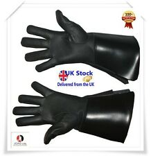 Piper Drummer Leather Gauntlets/Gloves Black Soft Leather Knight Templar