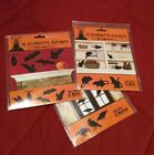 Lot of 3 Silhouette Cut Outs - 15 Bats, 15 Rats, and 15 Ravens NOS Halloween