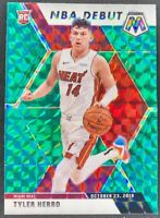 2019-20 Panini Mosaic Mosaic Green Prizm #280 Tyler Herro,NBA DEBUT RC,HOT,SP