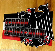 German Engineering oldschool Aufkleber Youngtimer Tuning Sticker Adler Deutsch