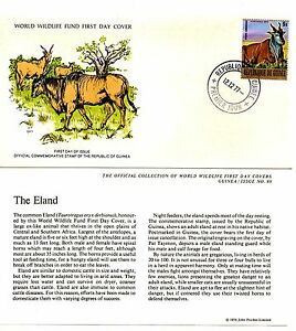 World Wildlife Fund First Day Cover 1977 - Guinea - The Eland