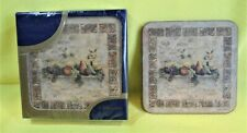 """PIMPERNEL Tuscan Palette Coasters - Set of 6 - 4.25"""" Square NEW SEALED -SEE PICS"""