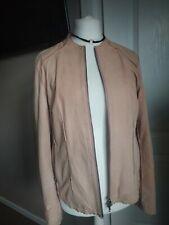 Gorgeous Steffen Schraut Leather Jacket Size EUR 42 Nubuck Bomber Pink Peach
