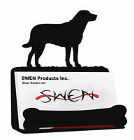 Rhodesian Ridgeback Dog Black Metal Business Card Holder