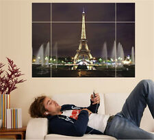Night Paris Tower Home Décor Decor Removable Wall Stickers Decals Decoration