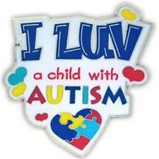Autism I LUV a Child with Autism Pin