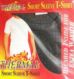 Men's Heat Trap Thermal T- Shirt Vest Top Warm Inner Winter Baselayer Underwear
