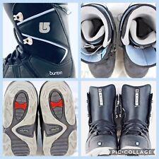 Burton Moto Women's Snowboarding Boots Size 7 Black With Powder Blue Trim
