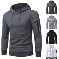 ❤️ Mens Hoodies Hooded Long Sleeve Sweatshirt Tops Casual Pullover Jumper Blouse