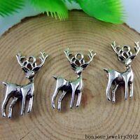 50946 Vintage Silver Alloy Reindeer Musk Deer Pendants Charms Findings 29pcs