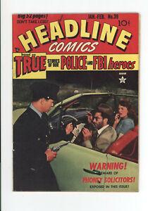 HEADLINE COMICS #39 - RARE ISSUE - GREAT PHOTO COVER - SIMON & KIRBY ART 1950