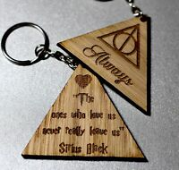 Harry Potter Always Memorial Keyring For Lost Or Loved Ones, Deathly Hallows