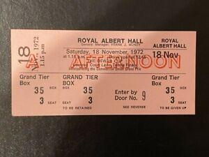 TENNIS - THE DEWAR CUP - ROYAL ALBERT HALL (LONDON) 18/11/1972 - TICKET - VGC