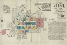 Ada, Oklahoma~Sanborn Map© sheets with 45 maps in full color~11902 to 1920
