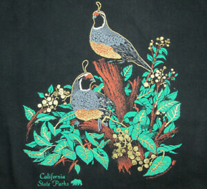 1994 California State Parks Tote Bag Quails & Plants Image 100% Cotton USA Made
