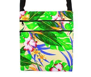 Hawaii Hangover Hawaiian Floral 100% Cotton Crossbody Bag in Assorted Color/Size
