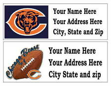 60 Chicago Bears Return Address Labels Many Choices