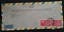 c.1939 Brazil Airmail Cover ties 2 x 1200R stamps cancelled Rio Branco to USA