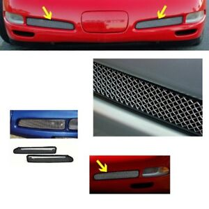 Corvette Front Fog Light ZO6 Screen W/ Housing Both Sides Fits: C5 97-04 Vettes