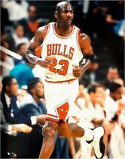 Michael Jordan Unsigned 16x20 Photo Chicago Bulls Jogging White Jersey