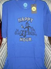 "LIFE IS GOOD MEN S/S TEE ""HAPPY HOUR ""  FOR THE CAMPER  IN YOUR LIFE..(L)"