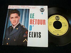 EP ELVIS PRESLEY LE RETOUR D'ELVIS N°1 75.607 ORIGINAL FRANCE 1960