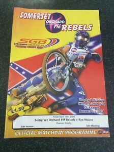 2004 SOMERSET v RYE HOUSE 16th APRIL       ( GOOD CONDITION )