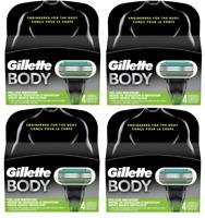 Gillette Body Men's Razor Blade Refills NEW, 16 Cartridges