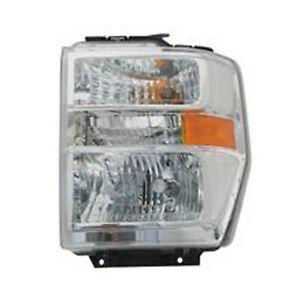 Left Side Headlight Assembly for 2015- Ford Van E350 Super Duty 114-01135L CAPA