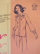 Lovely VTG 67 STRETCH & SEW 770 Misses Classic Blouse PATTERN  28-42B UC