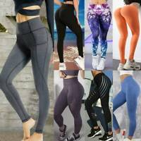 Women High Waist Yoga Leggings Pants Fitness Sport Gym Workout Athletic Trousers