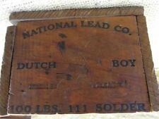 Vintage National Lead Co Dutch Boy Wooden Box > Antique Wood Boxes Soap 8875