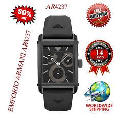 100% Authentic Emporio Armani Men's Meccanico Black Rubber Strap Watch AR4237