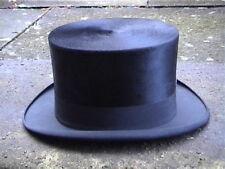 Antique Continental Black Silk. Top Hat Sz 7¼