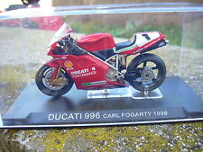 MOTO DUCATI 996 CARL FOGARTY 1999 scala 124