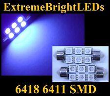 TWO UV Purple 18-SMD LED Vanity Sun Visor Mirror 39mm 41mm Lights Bulbs #77