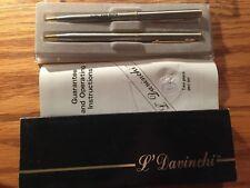 New listing Original L Davinchi 2 pc. Pen Set Black & Blue Mint Unused ! Personalized !