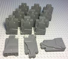 LEGO X12 NEW DARK BLUISH GRAY ROCK PANEL WALLS 2X4X6 BULK PARTS LOT PIECES