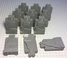 LEGO X12 NEW DARK BLUISH GRAY ROCK PANEL WALLS 2X4X6 BULK PARTS LOT PIECES