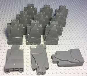 LEGO 12 PIECES NEW DARK BLUISH GRAY ROCK PANEL WALLS 2X4X6 BULK PARTS LOT