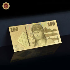 WR 24K Gold Australia $100 Dollar Banknote World Money Collect Men Business Gift