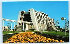 *Walt Disney World Monorail Train Open Lobby Contemporary Resort Postcard B43
