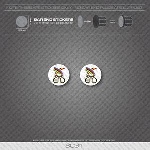 6031 - Eddy Merckx Bicycle Handlebar Bar End Plug Stickers - Decals