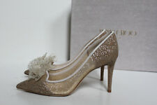 New sz 11 / 41 Jimmy Choo Estelle Champagne Chantilly Tulle Lace Pump Heel Shoes