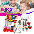 16Pcs Percussion Xylophone Set Kid Baby Toddler Musical Instrument Toys Band Kit