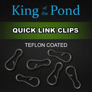 Quick change clips matt black x20 medium - carp fishing, carp rigs, carp tackle