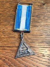 médaille ordre franc maçon maçonnique RARE 1871 Genève FIDELITE PRUDENCE argent