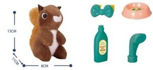 Plush Pet in Carry Case Dog or squirrel Girls Stuffed Soft Cuddly Toy set New