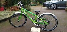 """Islabike Beinn 20"""" Small Green mudguards bottle cage - cost £430 Very Good cond"""